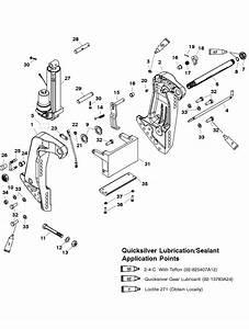 Transom Bracket Manual Tilt Assist For Mariner    Mercury