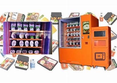 Vending Machine Refrigerated Healthy Meal Microwave Cooling