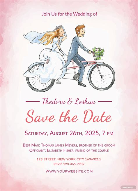 wedding invitation template cards printable
