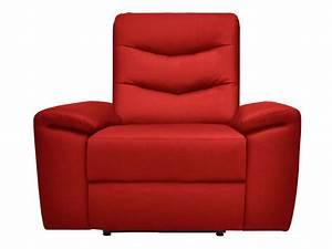 Fauteuil Electrique Conforama : fauteuil relaxation lectrique foster coloris rouge en pu vente de tous les fauteuils conforama ~ Teatrodelosmanantiales.com Idées de Décoration
