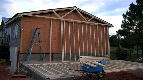 building a mobile mobile home addition part 1