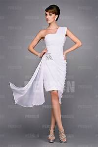 robe courte moulante asymetrique drapee pour cocktail With robes courtes pour mariage