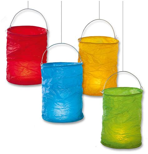 mini laternen basteln lanterne carta di riso colorate 6 pz compra rosi store