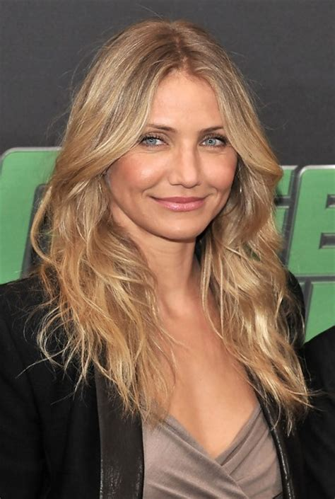 cameron diaz layered long hairstyle  mature ladies