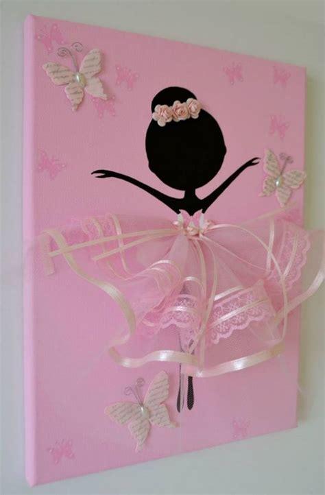 adorable dancing tutu ballerina canvas wall art beesdiycom
