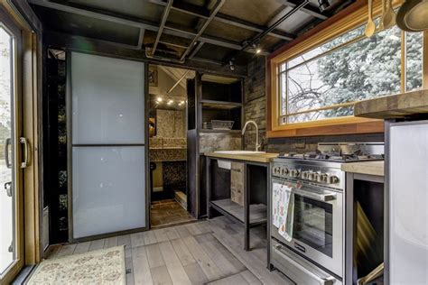 tiny mobile home  unusual decor features
