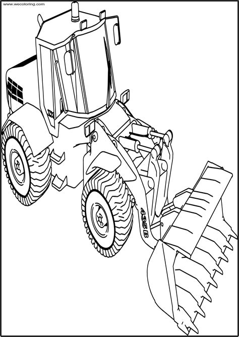 Coloring Jcb by Jcb 135b Bulldozer Ladle Free Printable Coloring Page