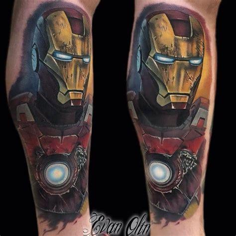 solid tony stark aka iron man tattoos tattoodo