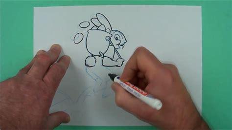Wie Malt Einen by Wie Malt Einen Eier Austragenden Osterhasen Zeichnen