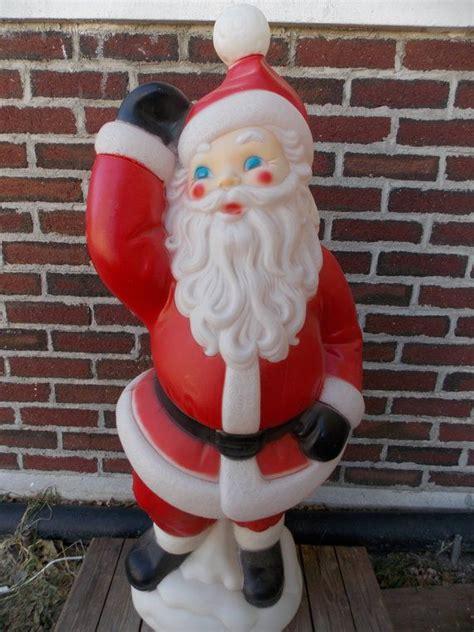 large  blow mold santa waving christmas blow mold