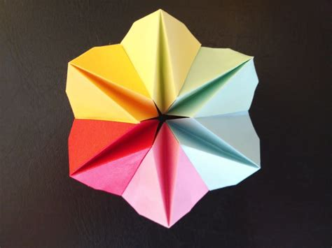 origami flower early childhood education