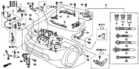 Fue Wiring Diagram 1997 Toyotum Camry by 2007 Honda Pilot Ex Engine Wire Harness Diagram Inside