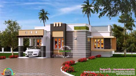 single floor home front design  kerala youtube