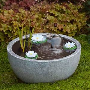 Bassin De Terrasse : mini bassin de terrasse gris 55 h30 cm n nuphars ~ Premium-room.com Idées de Décoration