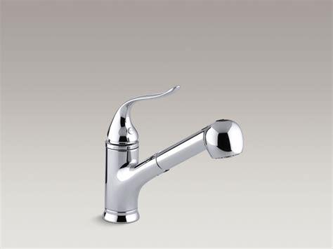 kohler kitchen sinks faucets kohler fairfax pullout spray kitchen faucet 6695