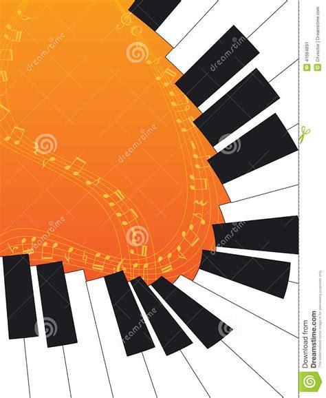 piano curve orange stock vector image