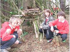 Forest School Shelter building 3 Law Primary School