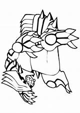 Groudon Animados Unicornio Fantasticas Colorironline sketch template