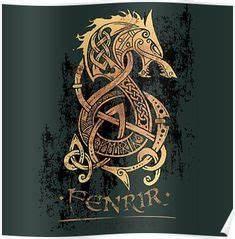Dessin Symbole Viking : fenrir la terreur des ases loup tatouage nordique tatouage scandinave et tatouage celtique ~ Nature-et-papiers.com Idées de Décoration