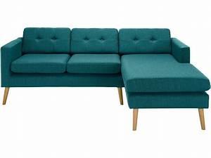 canape d39angle fixe 4 places en tissu yonis coloris bleu With tapis bébé avec canapé d angle bleu canard