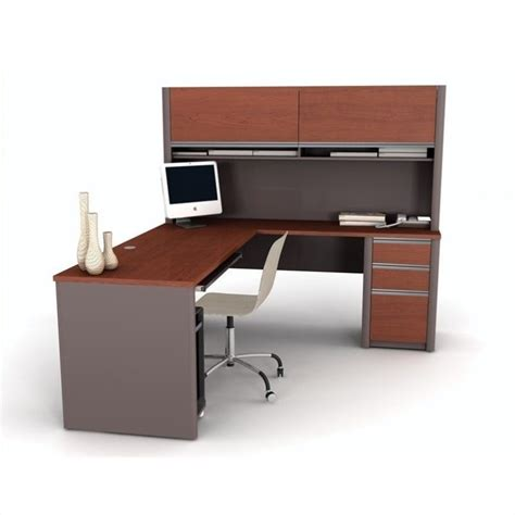 Bestar Connexion L Shaped Desk by Bestar Connexion L Shape Computer Desk W Hutch In