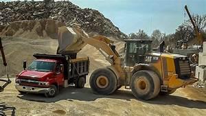 Single Axle Chevy Dump Truck Hauls Gravel (HD) - YouTube