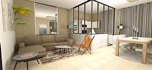 Separation Salon Chambre : verriere separation cuisine salon maison design ~ Zukunftsfamilie.com Idées de Décoration