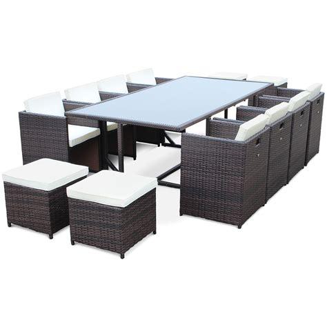 table et chaise de jardin en resine tressee salon de jardin résine tressée 8 à 12 places vasto
