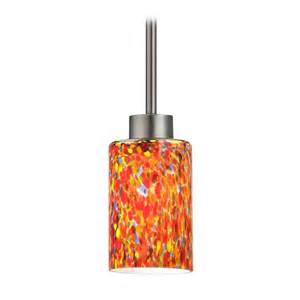 modern mini pendant light with multi color glass 1123 1