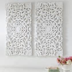 Pottery Barn Wall Accessories by Lennon Amp Maisy Ornate Wood Carved Wall Art Set Of 3 Pbteen