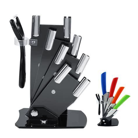 kitchen knives storage kitchen knife cutlery storage black knife holder stand for