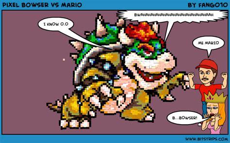 Pixel Bowser Vs Mario Bitstrips