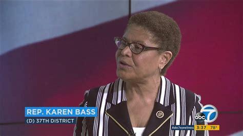 Rep. Karen Bass discusses President Trump, health care ...