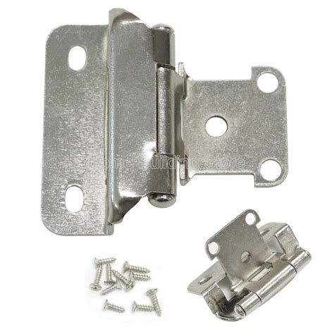 Kitchen Cabinet Doors Hinges by 1 4 Quot Overlay Self Closing Satin Nickel Cabinet Kitchen