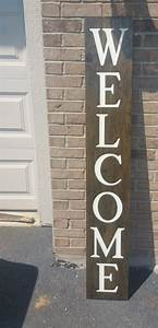 Welcome, Front, Porch, Wooden, Sign, Front, Porch, Sign, Welcome, Sign, Vertical, Welcome, Sign, Entry