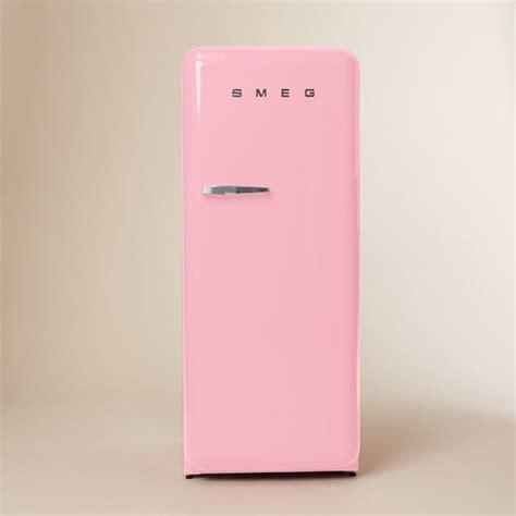 West Elm Cabinet by Smeg Refrigerator Pink Modern Refrigerators By West Elm
