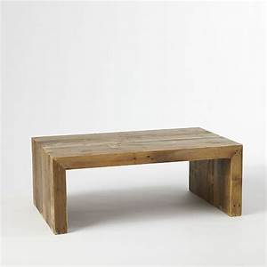 emmersonr reclaimed wood coffee table west elm With west elm plank coffee table