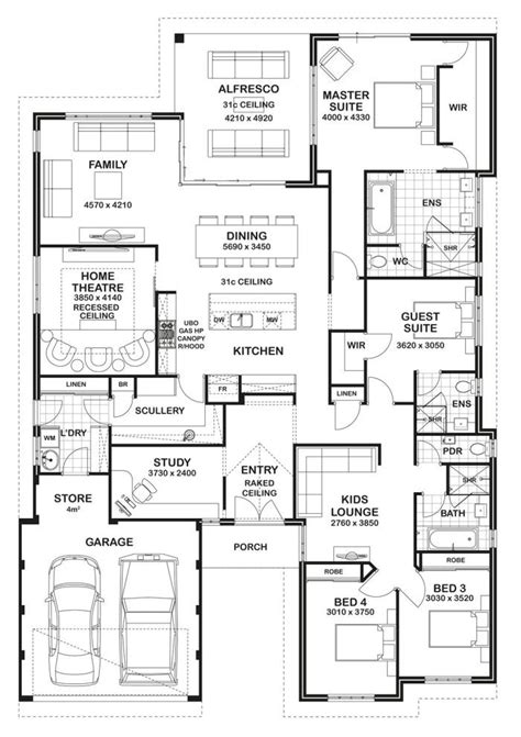 5 Bedroom House Plans Nsw by Floor Plan Friday 4 Bedroom 3 Bathroom Home For The