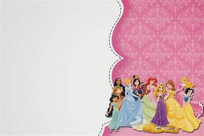 Princess Disney Printable Template Invitation Invitations Party