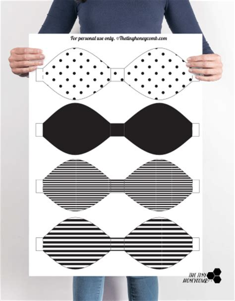 php using string templates diy printable paper bow with template the tiny honeycomb