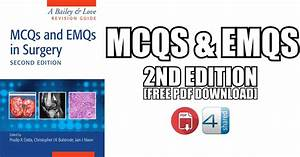 Mcqs And Emqs In Surgery 2nd Edition Pdf Free Download