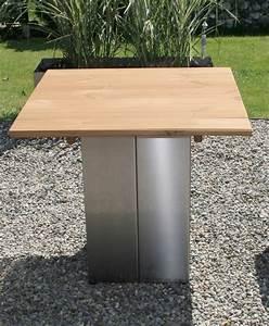Tisch Aus Holz : garten im quadrat garten tisch aus edelstahl und holz modern puristisch ~ Watch28wear.com Haus und Dekorationen