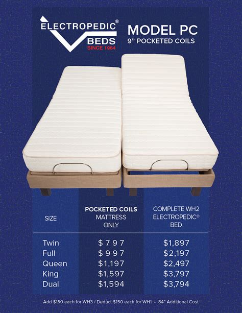 pics electropedic adjustable bed brochure latexpedic