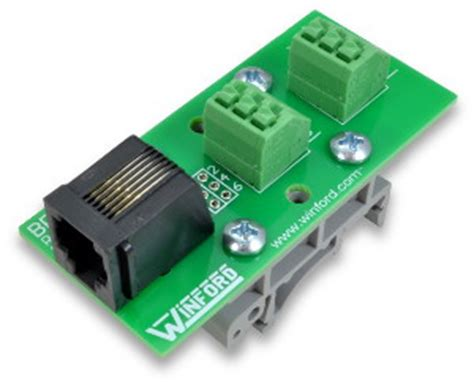 rj11 rj12 6p6c modular breakout board with connection terminals winford engineering