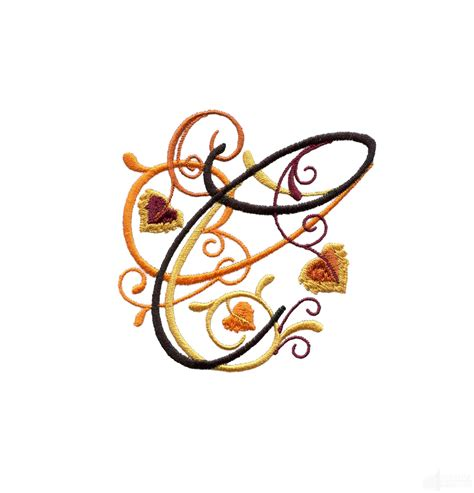 letter  embroidery design