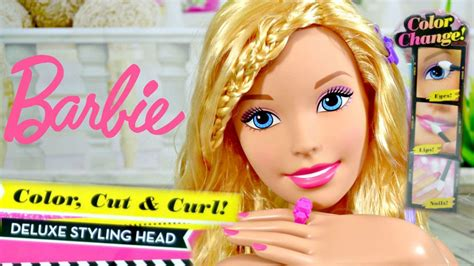 Barbie Color, Cut, & Curl Deluxe Styling Head Makeover