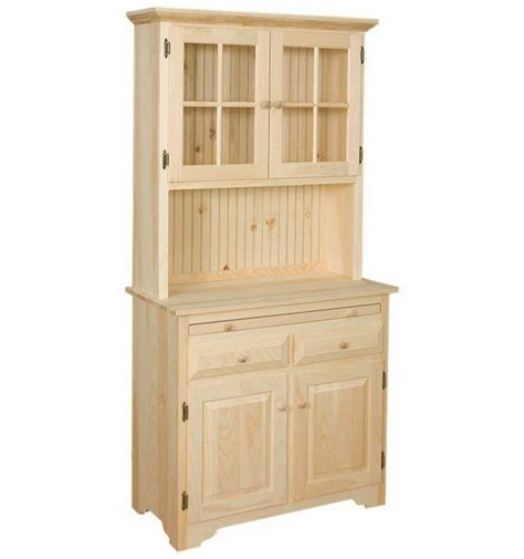 pine hutches amish unfinished solid pine hutch china cabinet with