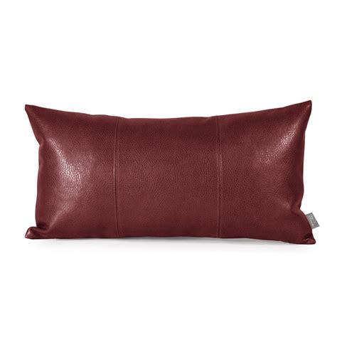 leather throw pillows howard elliott kidney faux leather throw pillow reviews