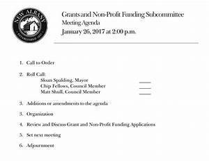 Agenda Samples Prepare A Non Profit Board Meeting Agenda With Free
