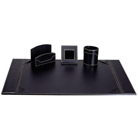 set de bureau cuir carpentras parure de bureau elyane simili cuir noir sous